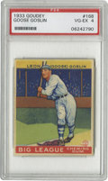 Baseball Cards:Singles (1930-1939), 1933 Goudey Goose Goslin #168 PSA VG-EX 4. Magnificent color and registration gives this one eye appeal far beyond its tech...