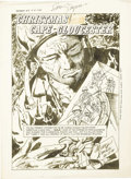 Original Comic Art:Splash Pages, Sam Glanzman - Combat #7, Splash Page 1 Original Art (Dell,1963)....
