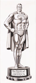 Original Comic Art:Covers, Curt Swan - Superman Annual #7 Grey Tone Cover Illustration Original Art (DC, 1963). ...