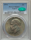 Eisenhower Dollars, 1976 $1 Type Two MS66+ PCGS. CAC. PCGS Population: (517/14 and 15/0+). NGC Census: (373/3 and 0/0+). Mintage 113,318,000. ...
