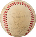 Baseball Collectibles:Balls, 1970's New York Yankees Old-Timers' Day Multi-Signed Baseball with Maris. . ...