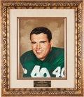 Football Collectibles:Others, 1972 Tom Brookshier Presentational Original Painting....