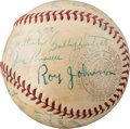Baseball Collectibles:Balls, 1939 Chicago Cubs Team Signed Baseball. . ...