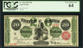 Large Size:Legal Tender Notes, Fr. 126b $20 1863 Legal Tender PCGS Very Choice New 64.. ...