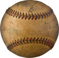 Baseball Collectibles:Balls, 1933 National League All-Star Team Signed Baseball from The Al Simmons Collection....