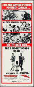 "Movie Posters:James Bond, Thunderball/You Only Live Twice Combo (United Artists, R-1971). Insert (14"" X 36""). James Bond.. ..."