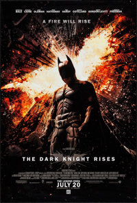 "The Dark Knight Rises (Warner Brothers, 2012). One Sheet (27"" X 40"") Advance. Action"