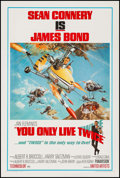 "Movie Posters:James Bond, You Only Live Twice (United Artists, 1967). One Sheet (27"" X 41"") Style B. James Bond.. ..."