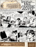 Original Comic Art:Panel Pages, Irv Novick and Dick Giordano Batman #222 Beatles-InspiredPartial Story Original Art and Letters Page Group of 9 (... (Total:9 Items)