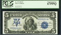 Large Size:Silver Certificates, Fr. 275 $5 1899 Silver Certificate PCGS Superb Gem New 67PPQ.. ...