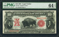 Large Size:Legal Tender Notes, Fr. 116 $10 1901 Legal Tender PMG Choice Uncirculated 64 EPQ.. ...