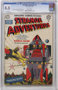 Golden Age (1938-1955):Science Fiction, Strange Adventures #3 (DC, 1950) CGC VF+ 8.5 Off-white pages....