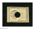 Colonial Notes:Continental Congress Issues, Continental Currency Contemporary Counterfeit September 26, 1778$40 Choice About New+++. A lovely example of this popular c...