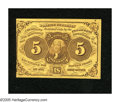Fractional Currency:First Issue, Fr. 1230 5c First Issue Extremely Fine-About New. Light handling is found on this note that was once mounted with a stamp hi...