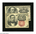 Fractional Currency:Fifth Issue, Two Short Key Designs.. Fr. 1266 10c Fifth Issue Fine. Fr. 1309 25cFifth Issue VF.. ... (Total: 2 notes)