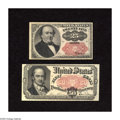 Fractional Currency:Fifth Issue, Two Fifth Issue Notes.. Fr. 1309 25c Fifth Issue About New. Fr. 1380 50c Fifth Issue XF, pinholes.. ... (Total: 2 notes)