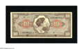 Military Payment Certificates:Series 641, Series 641 $10 Extremely Fine. This note from the Viet Nam conflicthas staple holes at left. One of the staple holes has in...
