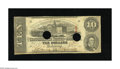 Confederate Notes:1863 Issues, T59 $10 1863. This 2nd Series $10 has Criswell number 442/9pencilled on the back. Very Good-Fine, HOC....