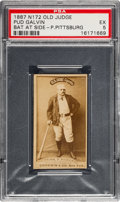 Baseball Cards:Singles (Pre-1930), 1887 N172 Old Judge Pud Galvin (#177-2) PSA EX 5 - Pop One, NoneHigher. ...