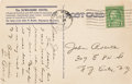 Baseball Collectibles:Others, 1938 Lou Gehrig Handwritten & Signed Postcard....