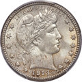Barber Quarters, 1913-S 25C MS66 PCGS....