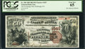 National Bank Notes:Pennsylvania, Pittsburgh, PA - $50 1882 Brown Back Fr. 508 The Exchange NB Ch. #1057. ...
