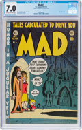 Golden Age (1938-1955):Humor, MAD #1 (EC, 1952) CGC FN/VF 7.0 Off-white to white pages....