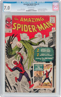 Silver Age (1956-1969):Superhero, The Amazing Spider-Man #2 (Marvel, 1963) CGC FN/VF 7.0 Off-whitepages....
