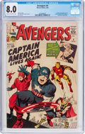 Silver Age (1956-1969):Superhero, The Avengers #4 (Marvel, 1964) CGC VF 8.0 Cream to off-white pages....