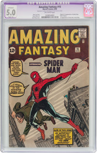 Amazing Fantasy #15 (Marvel, 1962) CGC Apparent VG/FN 5.0 Slight (A) Off-white pages