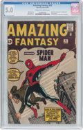 Silver Age (1956-1969):Superhero, Amazing Fantasy #15 (Marvel, 1962) CGC VG/FN 5.0 Cream to off-white pages....