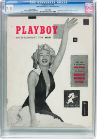 Playboy #1 Red Star Copy (HMH Publishing, 1953) CGC VF- 7.5 White pages
