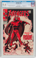 Silver Age (1956-1969):Superhero, The Avengers #57 Pacific Coast Pedigree (Marvel, 1968) CGC NM 9.4 Off-white pages....