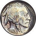 Buffalo Nickels, 1913-S 5C Type One MS67 NGC. CAC....
