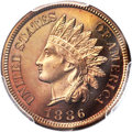 Proof Indian Cents, 1886 1C Type Two PR66 Red and Brown PCGS....