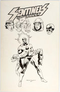 Original Comic Art:Covers, Sentinels of Justice #7 Unpublished Cover Original Art (ACComics, 1987)....