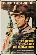 """Movie Posters:Western, A Fistful of Dollars (United Artists, 1967). Argentinean One Sheet (29"""" X 42.5""""). Western.. ..."""