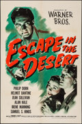 "Movie Posters:War, Escape in the Desert (Warner Brothers, 1945). One Sheet (27"" X41""). War.. ..."