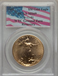 Modern Bullion Coins, 1997 $50 One-Ounce Gold Eagle MS69 PCGS. WTC Ground Zero Recovery. PCGS Population: (1190/40). NGC Census: (1032/114). CDN:...