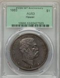 Coins of Hawaii , 1883 $1 Hawaii Dollar AU53 PCGS. PCGS Population: (38/187). NGCCensus: (24/179). Mintage 46,348. ...