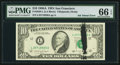 Error Notes:Ink Smears, Ink Smear on Face Error Fr. 2028-L $10 1988A Federal Reserve Note.PMG Gem Uncirculated 66 EPQ.. ...
