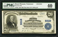 National Bank Notes:Tennessee, Mount Pleasant, TN - $20 1902 Plain Back Fr. 652 The First NB Ch. #9319. ...