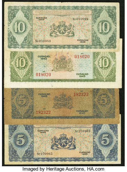 World Currency Curacao Curacaosche Bank 5 2 10