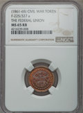 Civil War Tokens, (1861-1865) The Federal Union, MS65 Red Brown NGC, Fuld-225/327a; (1861-1865) Pulmonales, Coughs, & Colds, MS65 Red Brown, Ful... (Total: 4 coins)