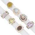 Estate Jewelry:Rings, Multi-Stone, Sterling Silver Rings, Barry Brinker . ... (Total: 7 Items)