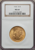 Indian Eagles, 1926 $10 MS64 NGC....