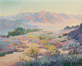 Fine Art - Painting, American:Modern  (1900 1949)  , Walter Barron Currier (1879-1934). Spring Time in theDesert, 1929. Oil on canvas. 26 x 32 inches (66.0 x 81.3 cm).Sign...