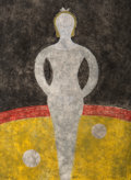 Fine Art - Work on Paper:Print, Rufino Tamayo (Mexican, 1899-1991). La Cirquera, 1984.Etching in colors on Guarro paper. 30 x 22 inches (76.2 x 55.9cm...