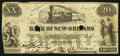 Obsoletes By State:Louisiana, New Orleans, LA- Bank of New-Orleans $20 Feb. 5, 1862. ...
