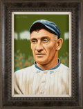 Baseball Collectibles:Others, Circa 2000 Honus Wagner Original Artwork by Arthur Miller. ...